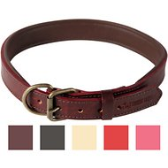 Logical Leather Padded Dog Collar, Brown, X-Large