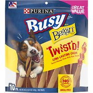 Busy Bone with Beggin' Twist'd! with Real Bacon Small/Medium Dog Treats, 10 count