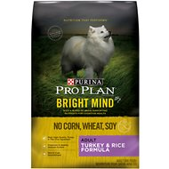 Purina Pro Plan Bright Mind Adult Turkey & Rice Formula Dry Dog Food, 4-lb bag