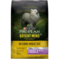 Purina Pro Plan Bright Mind Adult 7+ Turkey & Rice Formula Dry Dog Food, 4-lb bag