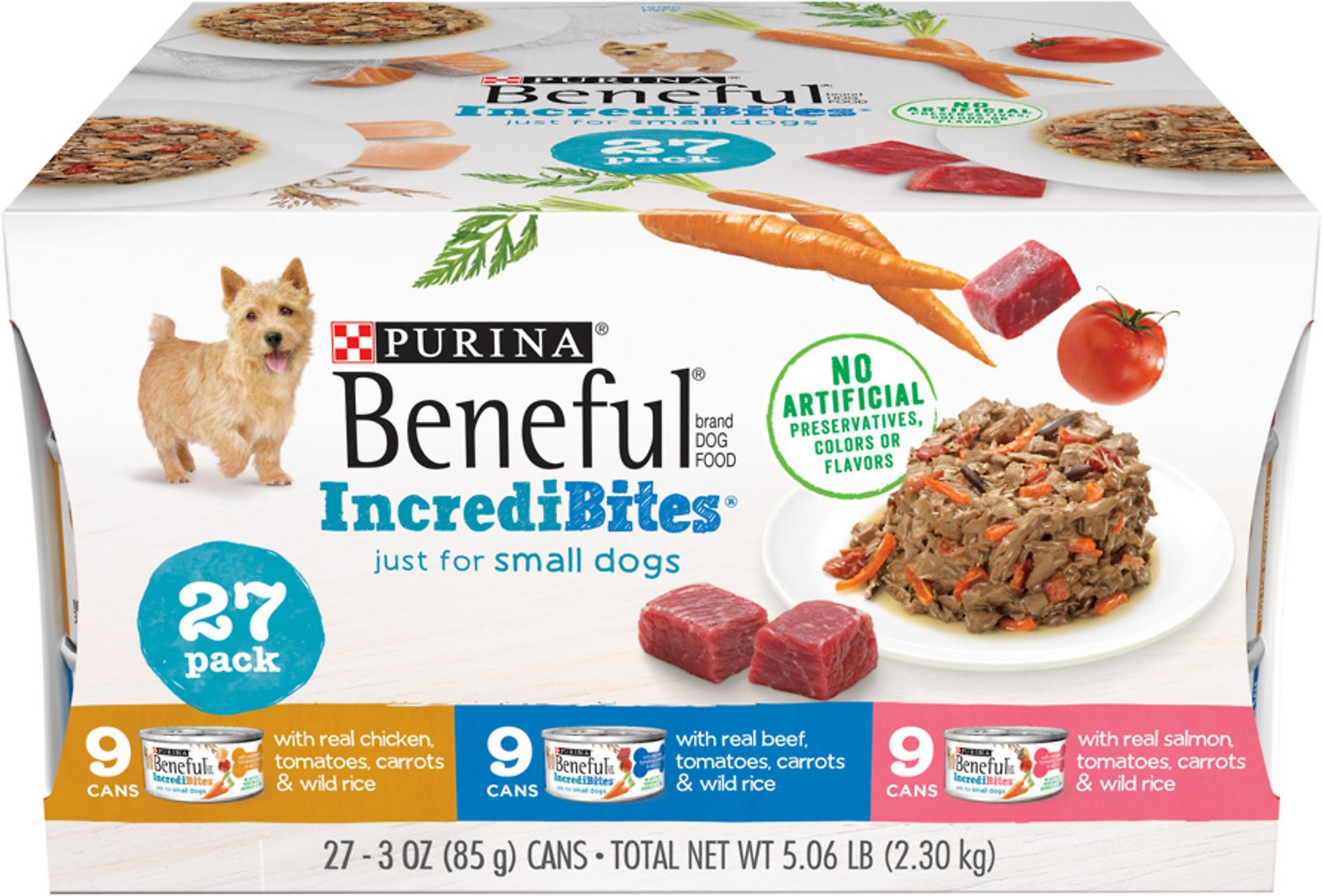 Purina Beneful Incredibites Variety Pack Canned Dog Food 3 Oz Case