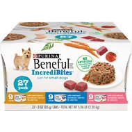 Purina Beneful IncrediBites Variety Pack Canned Dog Food, 3-oz, case of 27