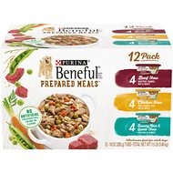 Purina Beneful Prepared Meals Variety Pack Wet Dog Food, 10-oz, case of 12