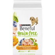 Purina Beneful Grain Free with Real Farm-Raised Chicken Dry Dog Food, 4.5-lb bag