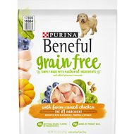 Purina Beneful Grain Free With Real Farm-Raised Chicken Dry Dog Food, 12.5-lb bag