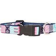 Paws N Claws Couture Nautical Patchwork Dog Collar, Large