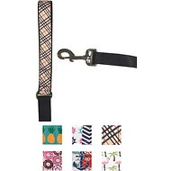 Paws N Claws Couture Dog Leash, Brown Plaid