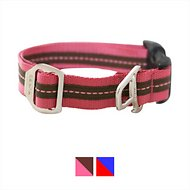 Kurgo Wander Nylon Dog Collar with Bottle Opener, Pink/Chocolate, Small