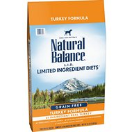 Natural Balance L.I.D. Limited Ingredient Diets High-Protein Turkey Formula Grain-Free Dry Dog Food, 24-lb bag