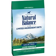 Natural Balance L.I.D. Limited Ingredient Diets Lamb Formula High Protein Grain-Free Dry Dog Food, 12-lb bag