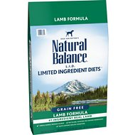 Natural Balance L.I.D. Limited Ingredient Diets Lamb Formula Grain-Free Dry Dog Food, 24-lb bag