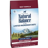 Natural Balance L.I.D. Limited Ingredient Diets High-Protein Beef Formula Grain-Free Dry Dog Food, 24-lb bag