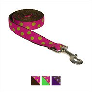 Sassy Dog Wear Dot Dog Leash, Fuchsia & Lime, Small
