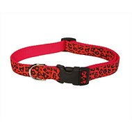 Sassy Dog Wear Leopard Dog Collar, Orange, Large