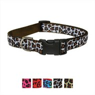 Sassy Dog Wear Leopard Dog Collar, Large, White & Brown