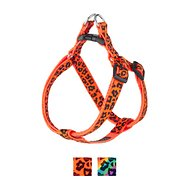 Sassy Dog Wear Leopard Dog Harness, Orange, Medium