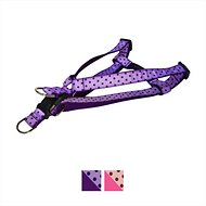 Sassy Dog Wear Polka Dot Dog Harness, Orchid & Navy, X-Small