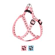 Sassy Dog Wear Puppy Paws Dog Harness, X-Small, Pink & Brown