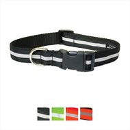 Sassy Dog Wear Reflective Dog Collar, Black, Small