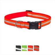 Sassy Dog Wear Reflective Dog Collar, Medium, Neon Orange