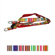 Sassy Dog Wear Multi Stripe Dog Harness, Red, Medium