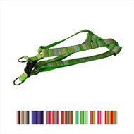 Sassy Dog Wear Multi Stripe Dog Harness, Green, Large
