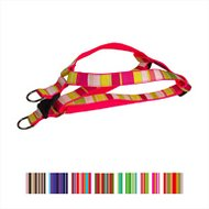 Sassy Dog Wear Multi Stripe Dog Harness, Large, Pink