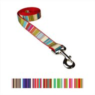 Sassy Dog Wear Multi Stripe Dog Leash, Medium, Red