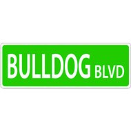 Imagine This Company Dog Breed Street Sign, Bulldog