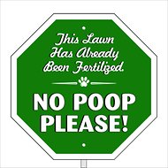 "Imagine This Company ""No Poop Please"" Garden Sign"
