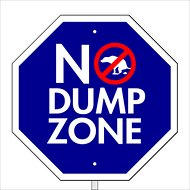 "Imagine This Company ""No Dump Zone"" Garden Sign"