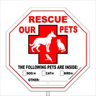 "Imagine This Company ""Rescue Our Pets"" Garden Sign"
