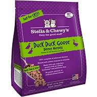 Stella & Chewy's Duck Duck Goose Dinner Morsels Grain-Free Raw Frozen Cat Food, 1.25-lb bag