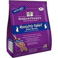 Stella & Chewy's Absolutely Rabbit Dinner Morsels Grain-Free Raw Frozen Cat Food, l-lb bag