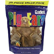 Cadet Pig Ears Dog Treats, 25-count