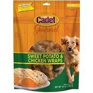 Cadet Gourmet Sweet Potato & Chicken Wrap Dog Treats, 14-oz bag