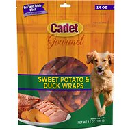 Cadet Gourmet Sweet Potato & Duck Wrap Dog Treats, 14-oz bag