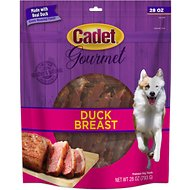 Cadet Gourmet Duck Breast Dog Treats, 28-oz bag