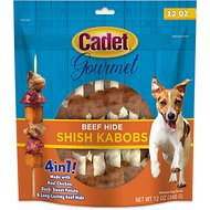Cadet Gourmet Triple Flavored Shish Kabobs Dog Treats, 12-oz bag