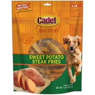 Cadet Gourmet Sweet Potato Steak Fries Dog Treats, 1-lb bag