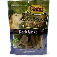Cadet Butcher Pork Links Dog Treats, 12-oz bag