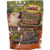 Cadet Butcher Beef Jerky Dog Treats, 7-oz bag