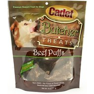 Cadet Butcher Beef Lung Puffs Dog Treats, 8-oz bag