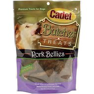 Cadet Butcher Pork Bellies Dog Treat, 6-oz bag