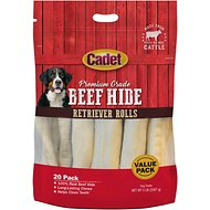 Cadet Rawhide Retriever Roll Dog Treats, 5-lb bag