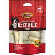 Cadet Rawhide Curls Dog Treats, 5-lb bag