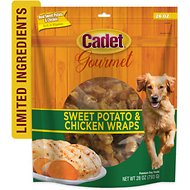 Cadet Gourmet Sweet Potato & Chicken Wrap Dog Treats, 28-oz bag