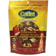 Cadet Gourmet Chicken & Apple Wraps Dog Treats, 14-oz bag