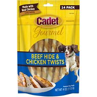 Cadet  Gourmet Rawhide & Chicken Twist Dog Treats, 14-count