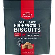 American Journey Beef Recipe Grain-Free High Protein Biscuits, 10-oz bag